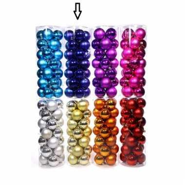 Plastic blauwe kerstballen 28 stuks 6 cm