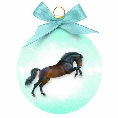 Plastic dieren kerstballen paardje