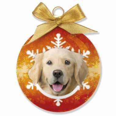 Plastic huisdier kerstballen hond
