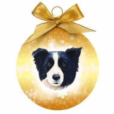 Plastic huisdieren kerstballen honden border collie