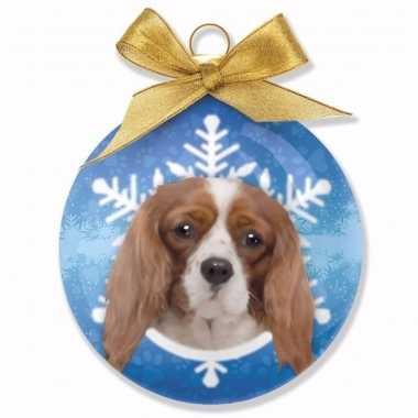 Plastic huisdieren kerstballen honden cavalier