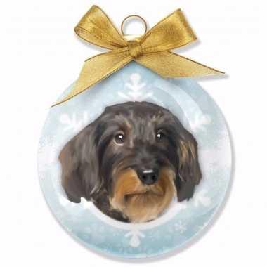 Plastic huisdieren kerstballen hondjes teckel