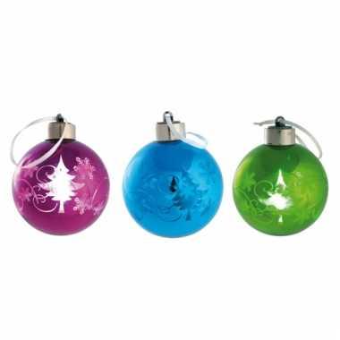 Plastic Kerstbal Met Led Licht Plastickerstballen Nl