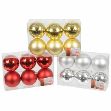 Plastic kerstballen set 6 cm 6 stuks