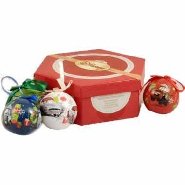 Plastic kinder kerstballen van disney cars