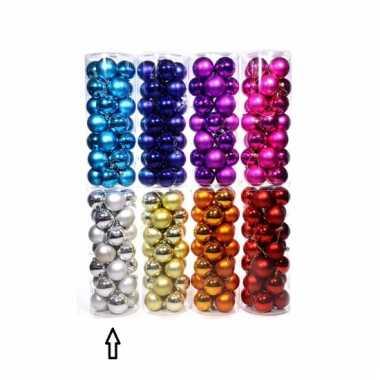 Plastic zilveren kerstballen 28 stuks 6 cm
