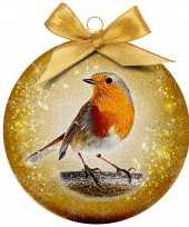 Plastic 1x kunststof dieren kerstballen met vogel 8 cm